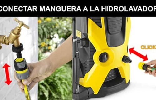 CONECTAR MANGUERA CON HIDROLAVADORA