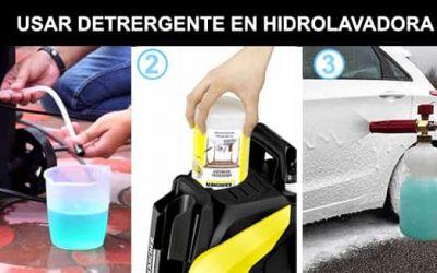 como usar detergente en hidrolavadora